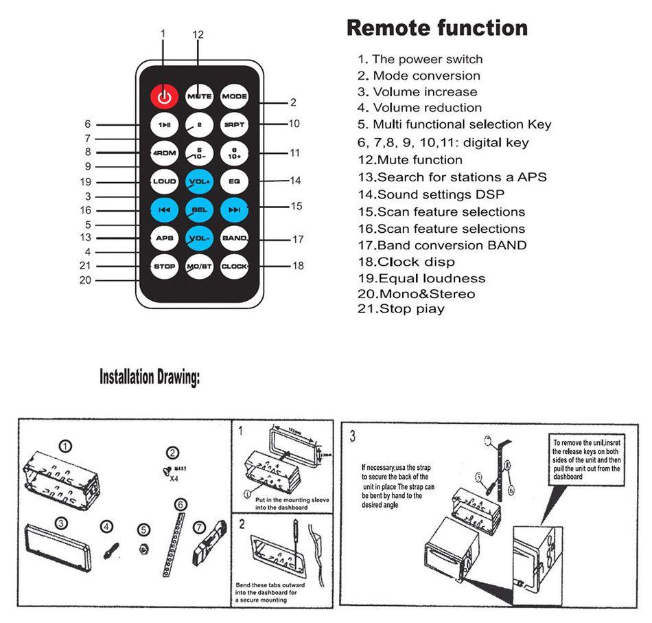 Compre 12 V Bluetooth Estéreo Rádio FM MP3 Player De Áudio