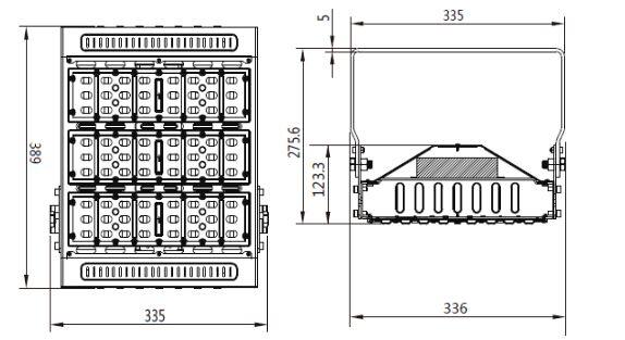 400W Metal Halide/HPS Replacement 120 Watt LED Flood