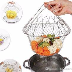 Kitchen Colander Shutters Stainless Steel Expandable Fry Chef Basket Magic Mesh Strainer Net Cooking Steam Rinse Strain Fried Baskets