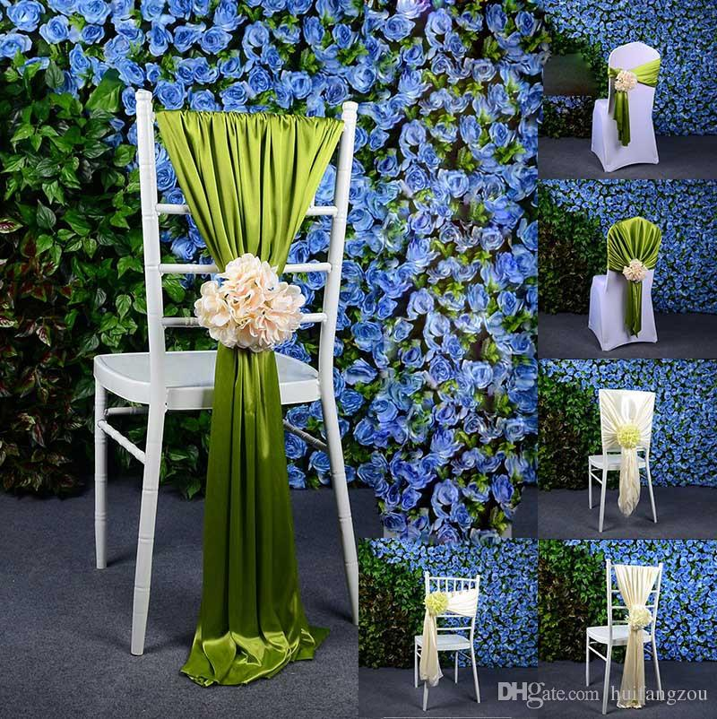 chair covers wedding costs walmart bean bag 2019 creative colorful sashes favors hot sale elastic party flowers decorations beige blue pink from huifangzou