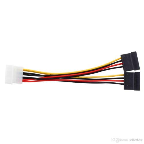small resolution of serial ata sata 4 pin ide molex to 2 of 15 pin hdd power adapter cable