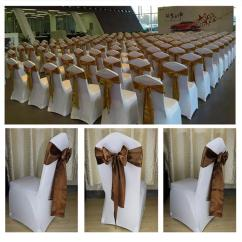 Chair Covers For Rent In Trinidad Bedroom Lilac Universal White Polyester Stretch Wedding Weddings And Ottoman Slipcovers Can Be Used Chairs Not To Regularly Avoid Dust Also Dining Sale Applied Special