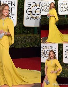 th golden globe awards celebrity dresses jennifer lopez red carpet dress yellow mermaid ruched long evening petite also rh dhgate