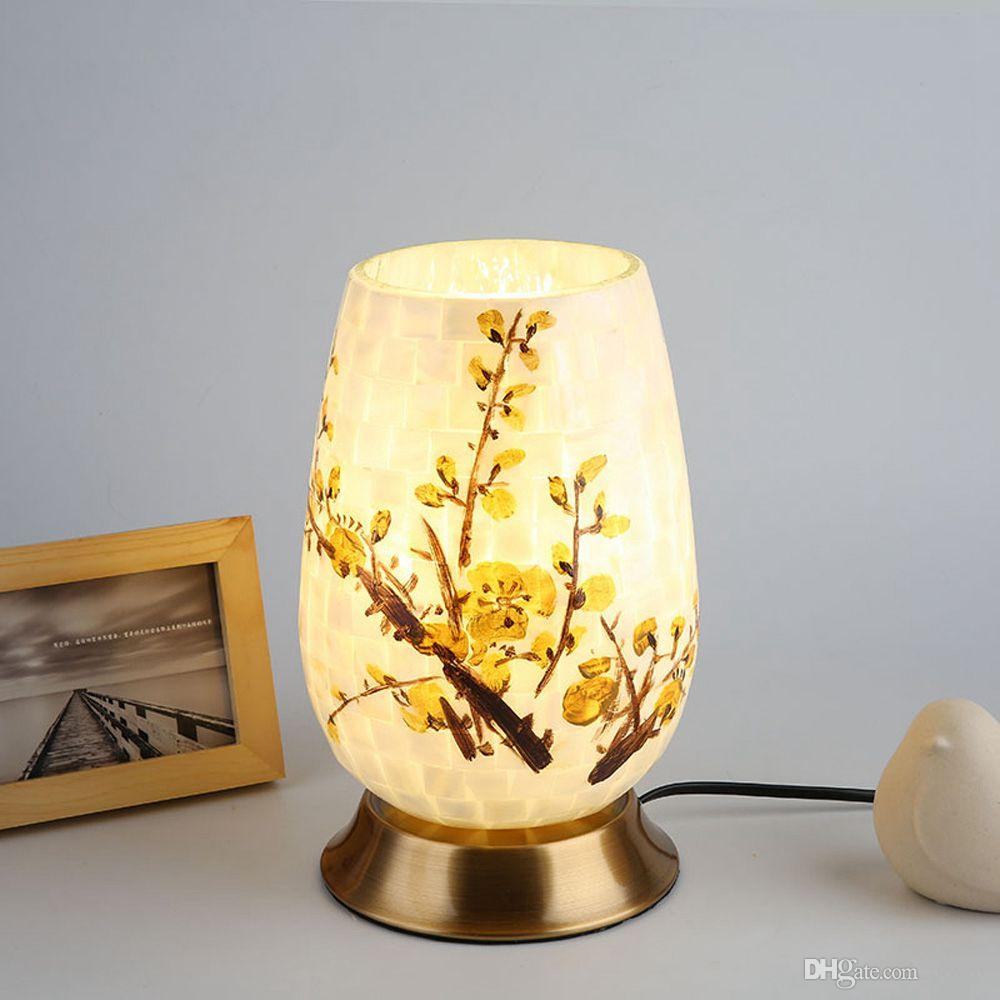 Small Lamps For Bedrooms Oovov Creative Shell Bedsides Small Desk Lamps Bedroom Baby Room Kids Room Table Lamp Not Include Decoration Flowers