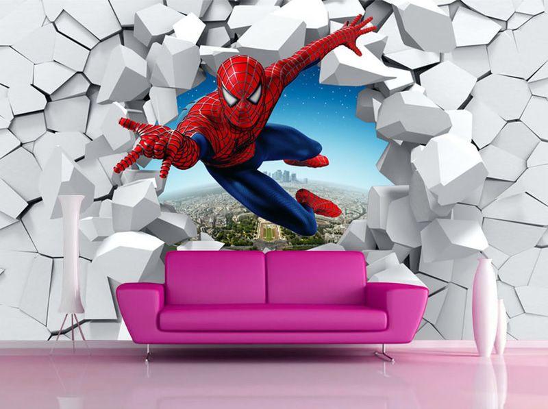Spiderman Wallpaper Custom 3d Photo Wallpaper For Walls