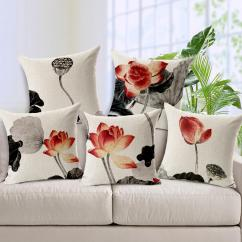 Replacement Cushions For Living Room Sofa 2 Traditional Design Ideas Photos 45cm Chinese Style Ink Painting Decorative Throw Pillows Flower Cushion Cover Can Be Custom Covers Pillowcases Square Outdoor