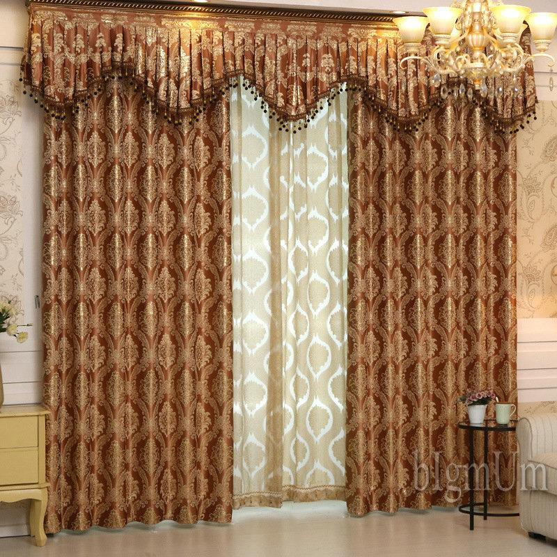 curtains with valance for living room window treatment ideas large 2019 luxury bedrooms jacquard home furnishing sold by complete set from bigmum