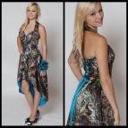 Blue Camo Wedding Dresses