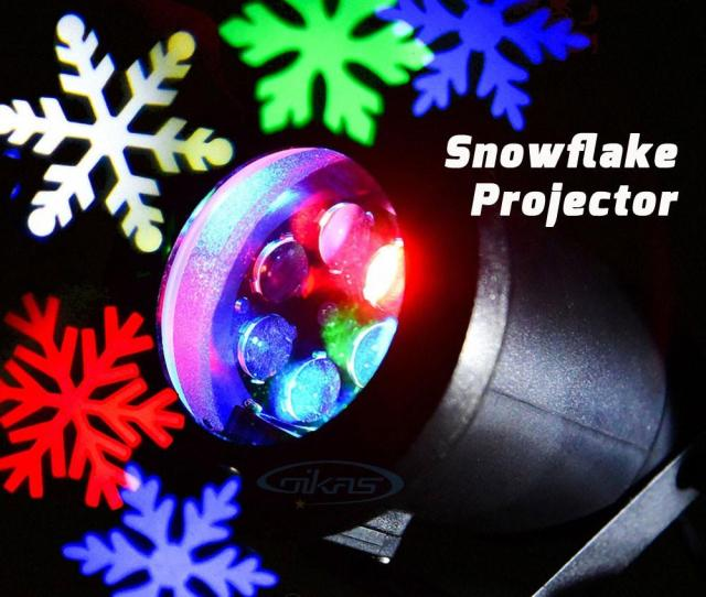 Outdoor Holiday Light Led Snowflake Projector White Red Blue Green Color Waterproof Ip Snow Laser Christmas Lights Show