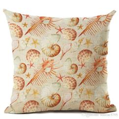One Piece Patio Chair Cushions Crate And Barrel Curran Tropical Fish Cushion Cover Sea Shell Throw Pillow Case For Sofa Coral Nautical Almofada Marine ...