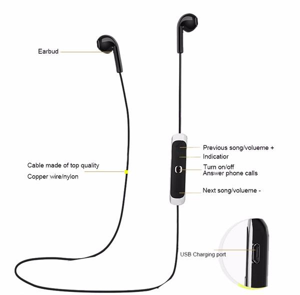 Bluetooth 4.0 Wireless Headset HD Bass Sport Sound K100