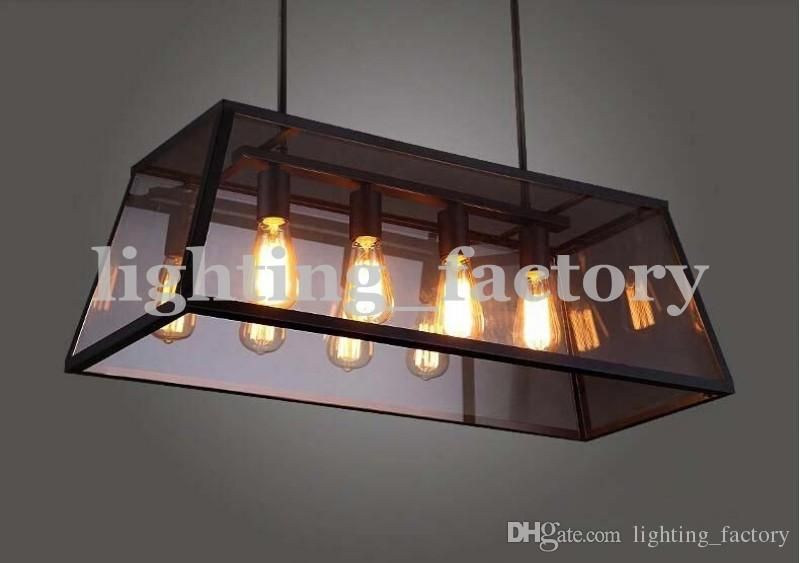Rectangular Shade Pendant Light