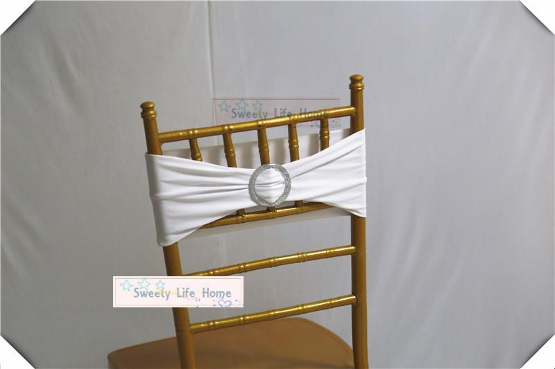 plastic chiavari chair office informa 20cm 35cm white sashes wedding spandex band with nice round buckle ring for banquet party bridal and belts