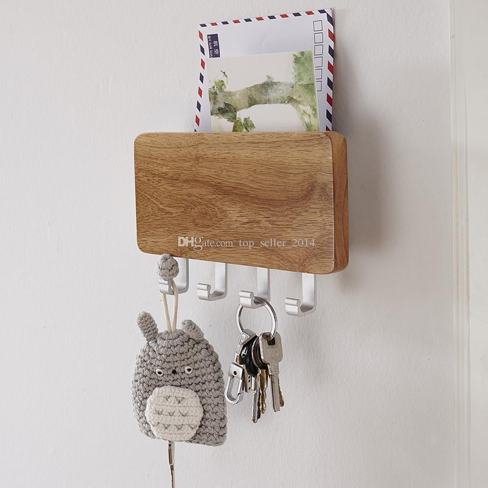 kitchen wall phones ikea sink best wood mounted key holder mail letter box rack ...