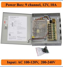 9 channels dc 12v 10a cctv camera power box switching power suply box for cctv video camera 9ch port inout ac 100 240v to dc 12v power supply switches power  [ 1000 x 1000 Pixel ]