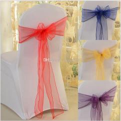 Party Decorations Chair Covers Tufted Slipper Wedding Sashes Chairs Organza Bows For Wed Events Supplies Decoration Cover Sash Various Colors Fairy