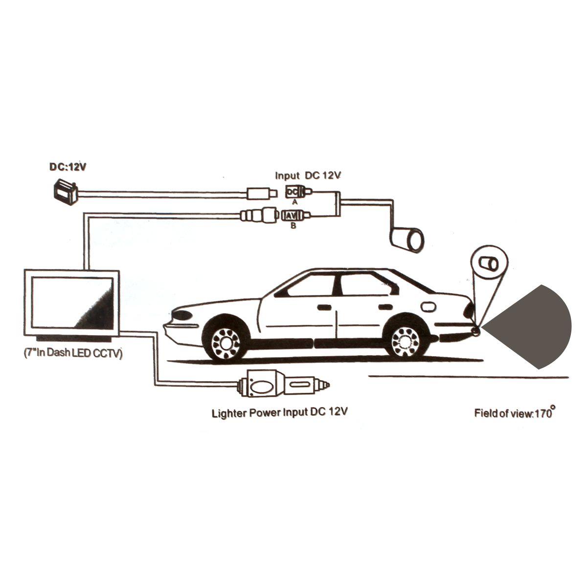 2019 4.3 Inch Foldable Car Monitor TFT LCD Display Car