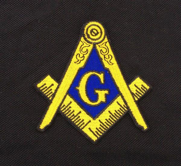 2018 Hot Masonic Logo Patch Embroidered Iron