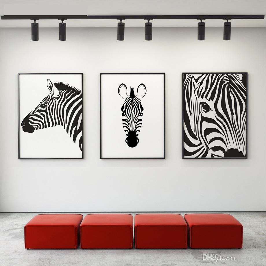 white wall decorations living room tan leather couch ideas 2019 canvas painting nordic black animal horse art poster prints pictures home decor from yong518 16 09 dhgate