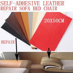 Diy Sofa Repair Black Grey Bed Bag Leather Sticker Patch Self Adhesive Mending Pu For Car Seat Chair Dog Bite Hole Fix Renew 20x50cm Wall Decals