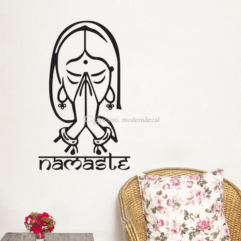 large wall stickers for living room india apartment decorating ideas on a budget indian yoga namaste home decorative vinyl decals art mural decor quotes walls