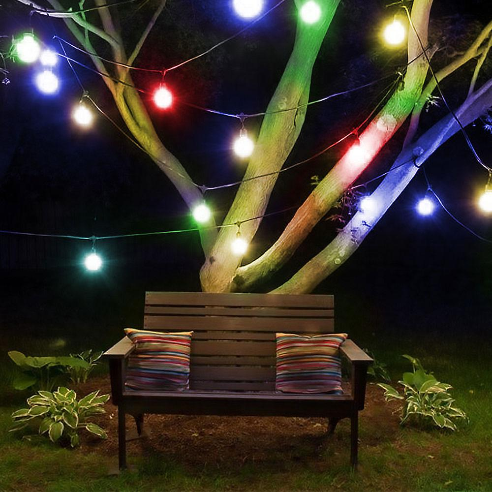 Solar String Lights Outdoor Multicolor 30 LED Crystal Ball