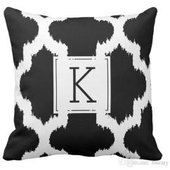 Spotlight Outdoor Chair Covers Fancy Dining Chairs High Quality Wholesale Factory Direct Custom Black White Quatrefoil Lkat Style Double Sided Pillow 16 Inch 18inch 20inch Cushions