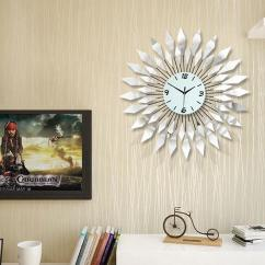 Living Room Wall Clocks Traditional Armchairs For Fashion Modern Iron Clock Large Diamond Luxury More Sharp And Quiet