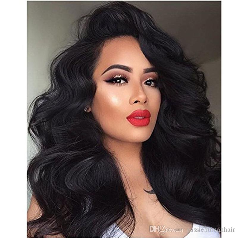 180 Density Thick Lace Front Human Hair Bob Wigs for