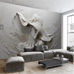 Living Room Online Fun Chairs For Rooms Custom Wallpaper 3d Stereoscopic Embossed Gray Beauty Oil Painting Modern Abstract Art Wall Mural Bedroom Landscape