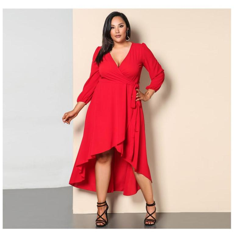 Resultado de imagen de PLUS SIZE RED AND PINK TREND FALL 2018 -19