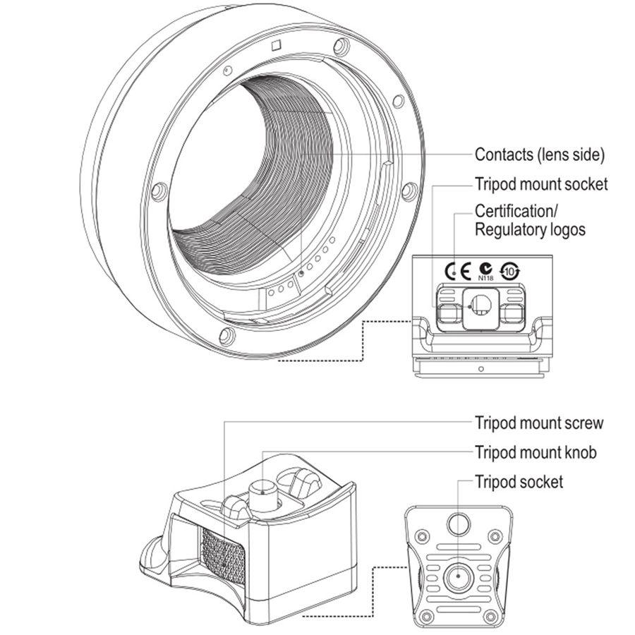 2018 Viltrox Auto Focus Ef Eos M Mount Lens Mount Adapter