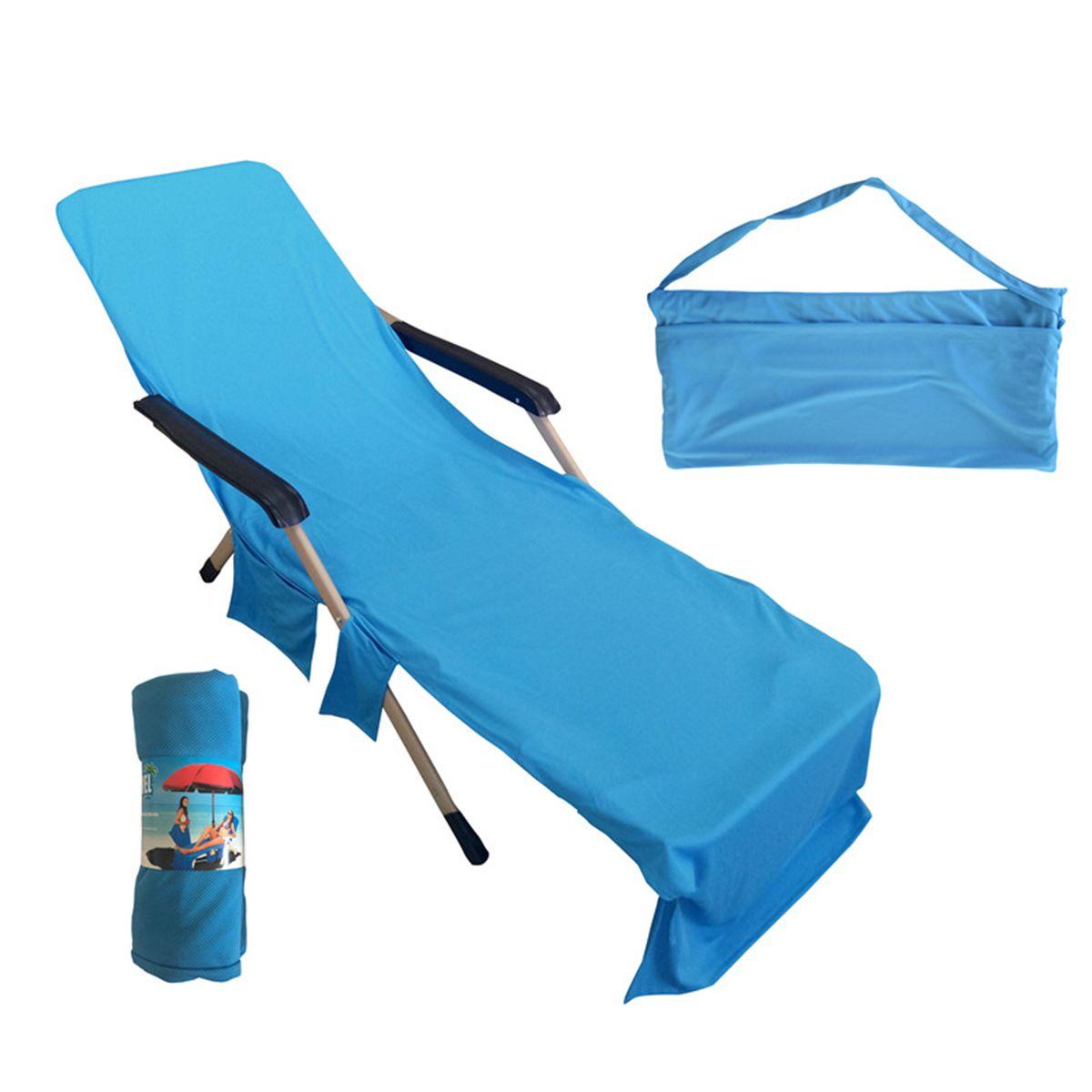 beach chair cover folding salon 215x75cm lounger mate towel microfiber double velvet