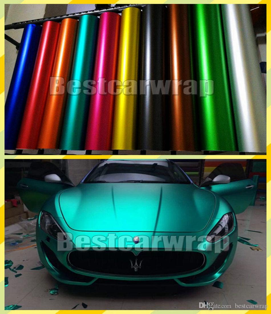 efa52626cd Various Matte Chrome Vinyl For Car Wrap Covering With Air Bubble Free  Vehicle Truck Wrapping Foil Car Sticker Size 1 52x20m Roll 5x67ft