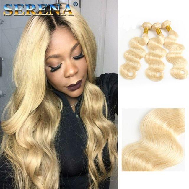 platinum blonde brazilian virgin hair silk body wave 613