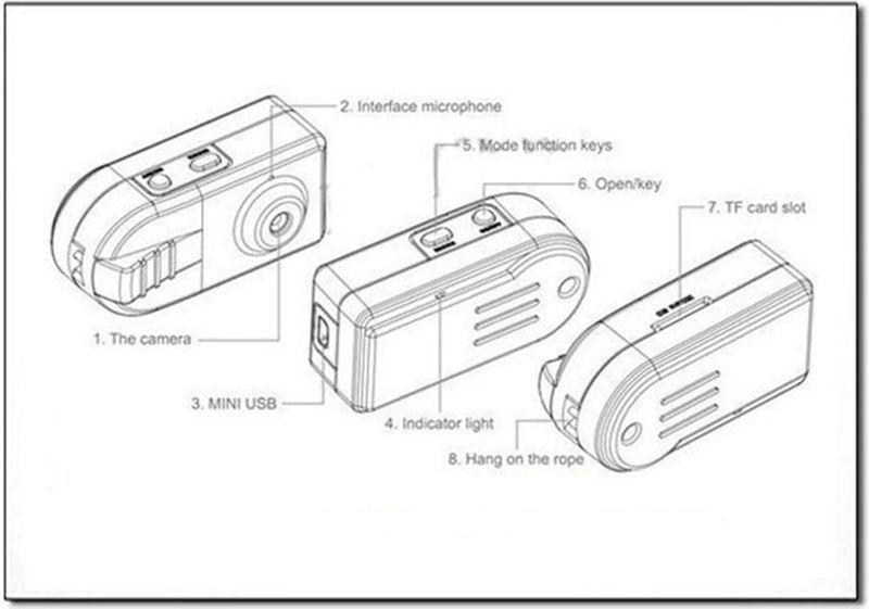 2019 HD 720P Mini DV DVR Thumb Mini Camcorder Portable