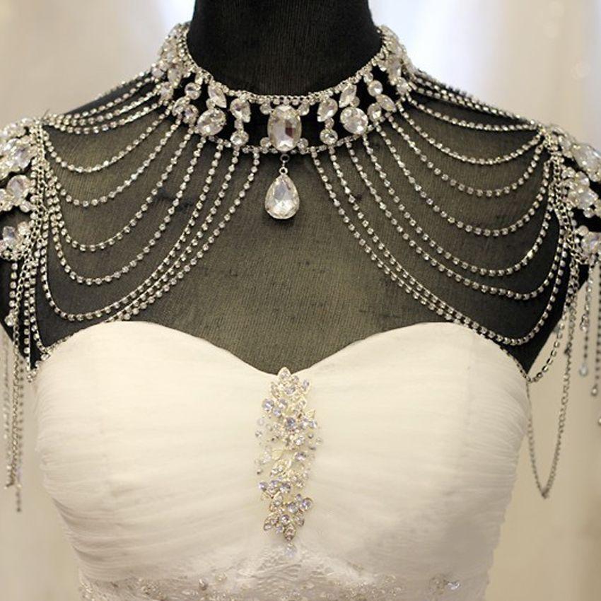 2018 2017 Luxurious Wedding Bridal Wraps Shawl High Neck