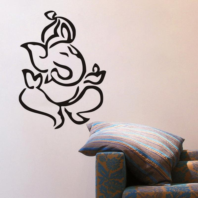 large wall stickers for living room india metal art indian ganesha home decor self adhesive removable decals vinyl mural quotes tree from
