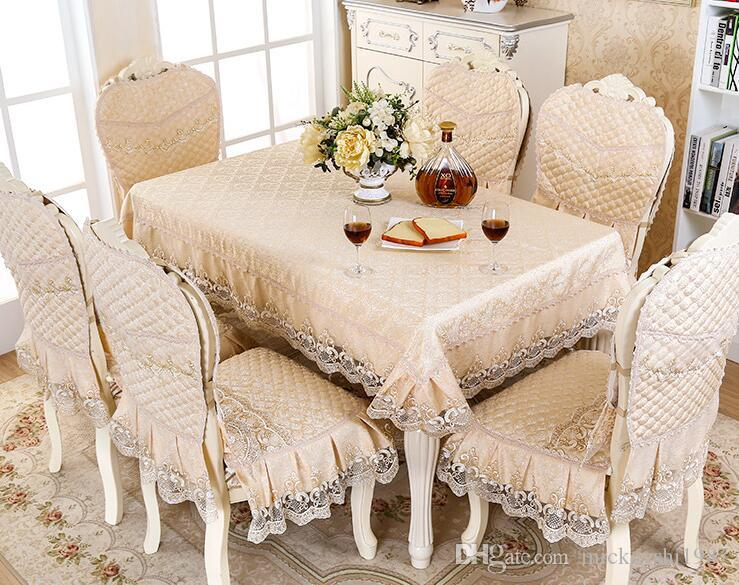 linen chair covers dining room furry bean bag european table cloth set pad overlay cover rectangular fabric cushion party decoration