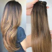 #2 6# human hair extensions balayage