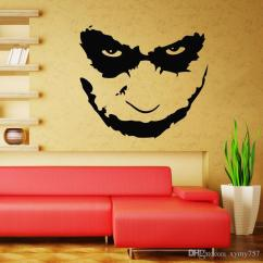 Wall Stickers Living Room Gray Couch Decor Joker Heath Ledger Decal Art Iconic Vinyl Decals Bedromm Home Mural Diy Sticker From