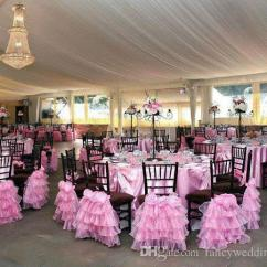 Chair Covers Pink Hire Kent 2019 Custom Made 2017 Organza 3d Flower Vintage Romantic Sashes Beautiful Fashion Wedding Decorations 05 From Fancywedding