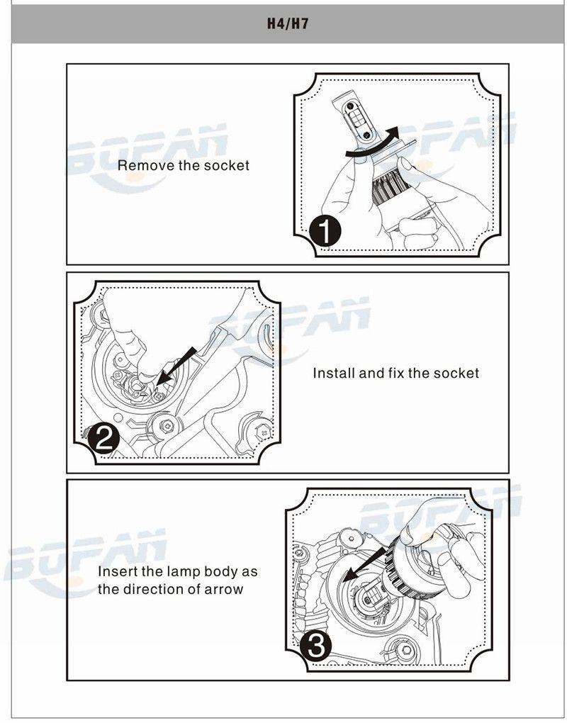 S2 Car LED Headlight Kit H4 H7 H11 9004 HB3 9007 HB4 H1