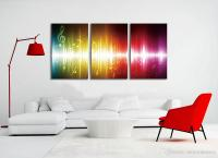 2018 Beating Music Notes Canvas Wall Art Paintings ...