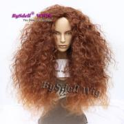 big frizzy fluffy afro kinky curly