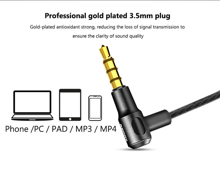 Bass Earphones Remax RM-580 Quality Wire Control Dual