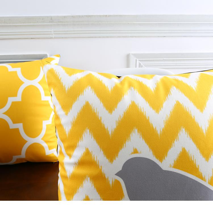 sofa dry cleaning cost colors for 2017 warm yellow color cushion cover geometric chevron stripes ...