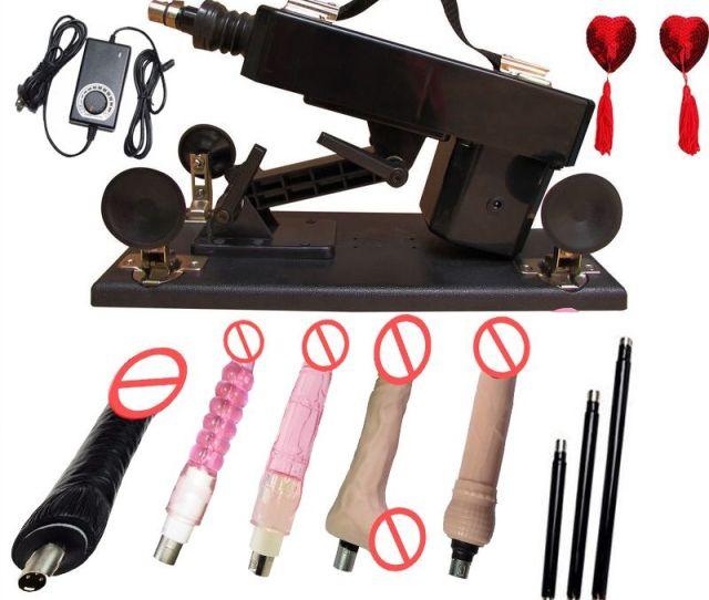 Sex Machine Gun Cannon With Big Black Dildo Female Masturbation Automatic Sexual Intercourse Robot Sex Toys For Women Sex Machine Gun Sex Machine Sex Toys