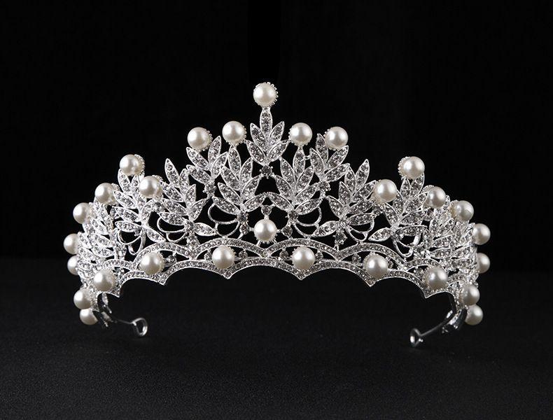 2018 2017 New Bride Wedding Tiara Crown Large Women Hair