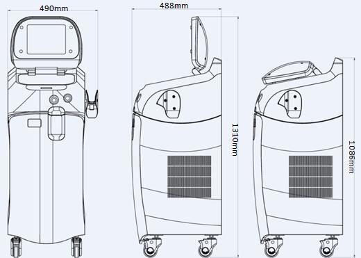 Máquina De Depilación Láser Con Diodo 808nm Con Estándar